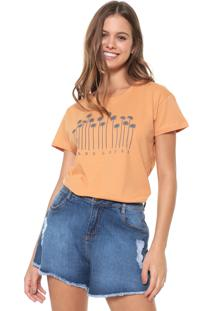 Camiseta Hang Loose Palm Laranja