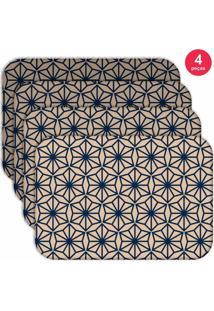 Jogo Americano Love Decor Wevans Geometric Old Kit Com 4 Pçs.