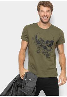 Camiseta Colcci Estampa Caveira Masculina - Masculino