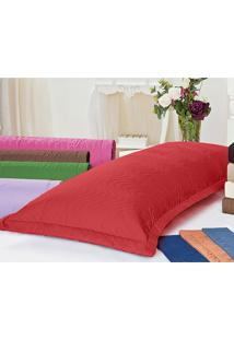 Porta Travesseiro Xuxão 180 Fios Vermelho Juma Enxovais