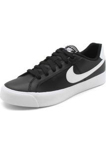 Tênis Nike Sportswear Wmns Court Ro Preto