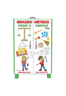 Armário Métrico Carlu 26 Itens Pesos E Medidas