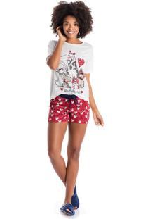 Short Doll Coracoes Vermelho/P
