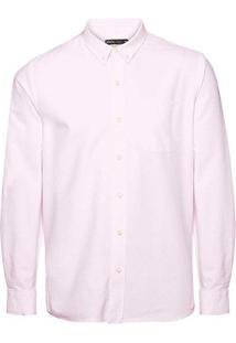 Camisa Masculina Manga Longa Em Tecido De Algodão