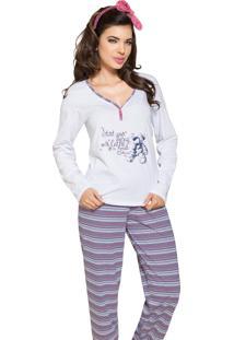 Pijama Vincullus Inverno Malha Listrada