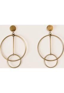 Brinco Círculos Metal L71 Dourado