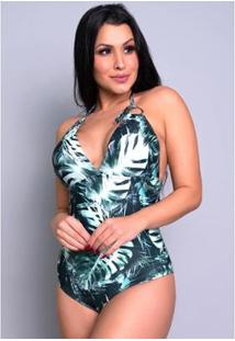 Maiô Mvb Modas Estampado Bojo Lycra Asa Delta Feminino - Feminino