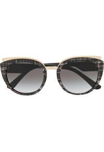 Dolce & Gabbana Eyewear Óculos De Sol Redondo - Preto