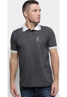 Camisa Polo Derek Ho Friso Caveira Masculina - Masculino-Mescla Escuro