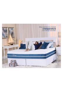 Colchão Gazin Mola Primeline Gel (Molas Ensacada) Branco E Azul 193X203X36