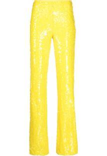 Antonella Rizza Calça Com Paetês - Amarelo