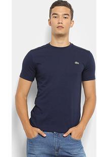 Camiseta Lacoste Gola Careca Masculina - Masculino-Marinho