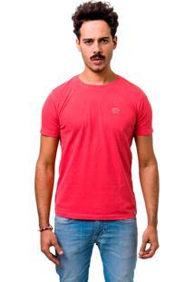 Camiseta Manga Curta Dom Romeu Estonada Vermelho