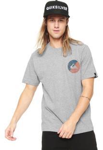 Camiseta Quiksilver Shook Up Cinza