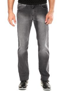 Calça Jeans Aleatory Reta Comfort Preta