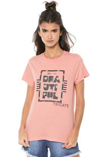 Camiseta Tricats Estampada Beautiful Coral