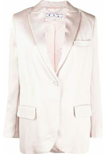 Off-White Tomboy Single-Breasted Blazer - Rosa