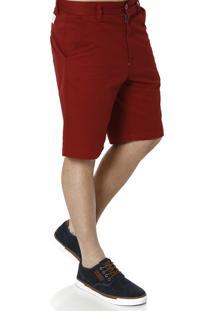 Bermuda Sarja Gajang Vermelho