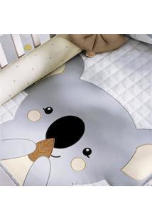 Edredom Bebê Coala Cinza Estampado Grão De Gente Cinza