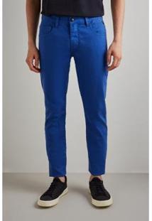 Calça Pf Skinny Reserva Color Inv 19 Masculina - Masculino-Azul