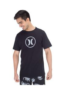 Camiseta Hurley Silk Circle Icon - Masculina - Preto