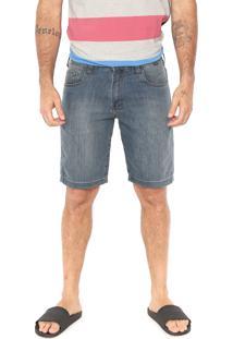Bermuda Jeans Hurley Reta Preston Azul