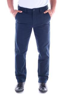 Calça 2839 Sarja Azul Traymon Modelagem Regular