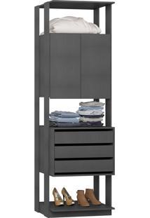 Estante Armário Be Mobiliário Clothes 2 Portas 3 Gavetas