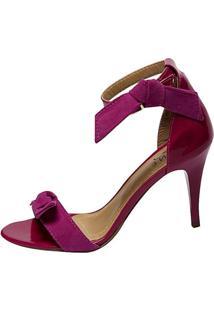 Sandália Jane Plaza Laço Pink