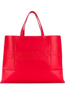R  19189,00. Farfetch Bolsa Calvin Klein Feminina Vermelha De Grife Tote  Zíper Couro Logo Com - 205w39nyc 216edab4e1