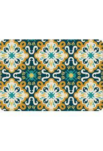 Tapete Mandala Color- Azul Marinho & Amarelo- 125X90Wevans