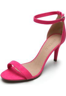 Sandália Fiveblu Salto Fino Rosa