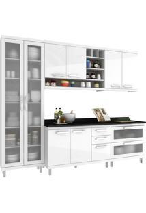 Cozinha New Vitoria 15 Hecol Móveis Branco