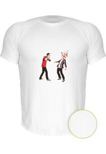 Camiseta Manga Curta Nerderia The Big Bang Theory Sheldon Estouando Miolos Branco
