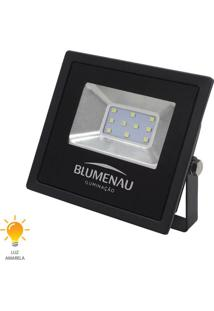 Refletor Led Slim 10W Bivolt Branco Quente 3000K - 74103000 - Blumenau - Blumenau