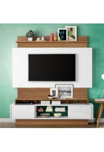 Estante Home Para Tv Até 55 Polegadas 2 Portas De Correr Tb112 Dalla Costa Off White/Freijó