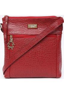 Bolsa Transversal Em Couro Com Tag - Vermelha - 25X2Di Marlys