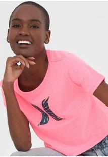 Camiseta Cropped Hurley Icon Rosa - Kanui