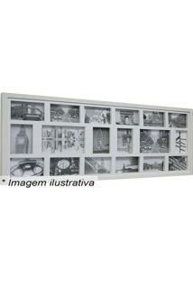 Painel Para 18 Fotos- Branco- 43X103X3Cmkapos