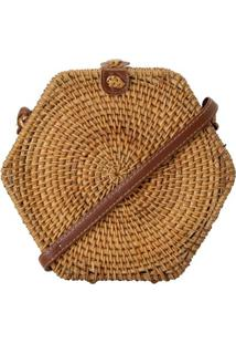 Bolsa Rattan Hexagonal