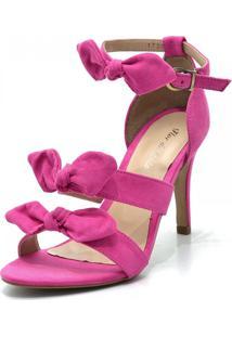 Sandália Salto Alto Flor Da Pele 1728 Pink