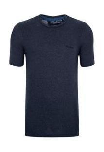 Camiseta Pierre Cardin Flow Masculina - Masculino-Marinho