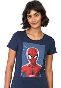 Blusa Cativa Marvel Spider-Man Azul-Marinho