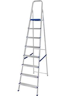 Escada Doméstica Dobrável 8 Degraus Em Alumínio 5106 - Mor
