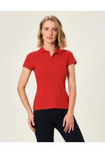 Camisa Polo Em Piquê Malwee Vermelho - Gg