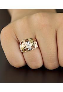 Brinco Em Ouro Com Zircônias Gota Branca - Br13738