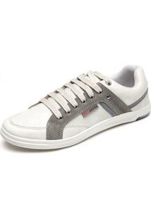 Sapatênis Ped Shoes Bordado Off-White