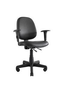 Cadeira Ergonômica Prolabore. Linha Comfort. Base Preta. Ajuste Lombar. Braços Ajustáveis. Encosto Médio. Revestimento Sintético. Prolabore Produtos Ergonômicos