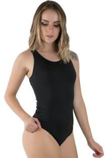 Body Rioutlet Nadador Feminino - Feminino-Preto
