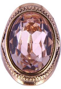 Anel Armazem Rr Bijoux Pedra Oval Rose - Tricae
